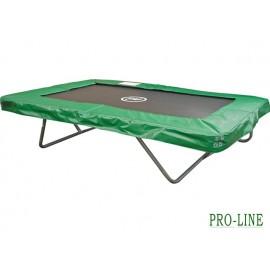 Pro-Line firkantet trampolin - Grøn