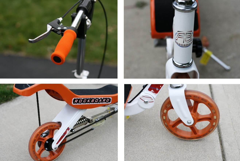 Detaljer fra Rockboard løbehjulet