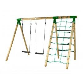 Hörby Bruk Træ Gyngestativ Active m/klatrenet
