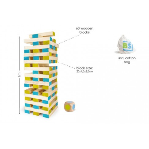 Kæmpe Klodsmajor/Tower - BS Toys