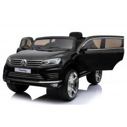 VW Touareg til børn 12v m/Gummihjul + Lædersæde + 2.4G + 10AH