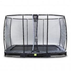 EXIT 'Elegant Premium' - Nedgravet firkantet trampolin - Sort