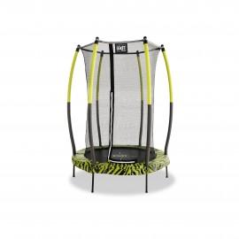 EXIT Tiggy Junior trampolin ø 140 cm (sort/grøn)