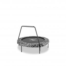 EXIT Tiggy Junior trampolin med barre ø 140 cm (sort/grå)