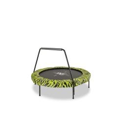 EXIT Tiggy Junior trampolin med barre ø 140 cm (sort/grøn)