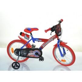 """16"""" Spiderman børnecykel med drikkedunk"""