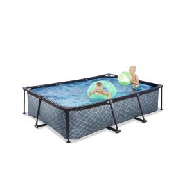 EXIT Stone pool 300x200x65cm med filterpumpe