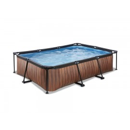 EXIT Havepool 300x200 cm med dome - wood