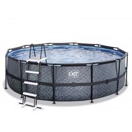 EXIT Stone pool ø4,5m med sandfilterpumpe og stige