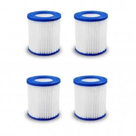 Poolpumpe patronfilter type 1 - sæt med 4 stk