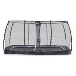 EXIT Supreme Ground Level - Sort - firkantet trampolin til nedgravning med sikkerhedsnet