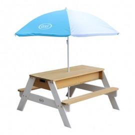 Nick Sand & vand picnicbord (AXI) - brun/hvid