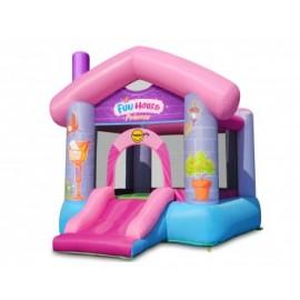 Hoppeborg Fun House med prinsessetema - HappyHop