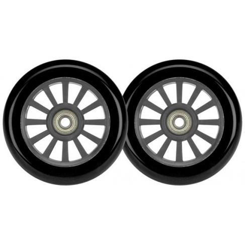 Reservedel til løbehjul - 100mm PU hjul - sæt med 2 stk