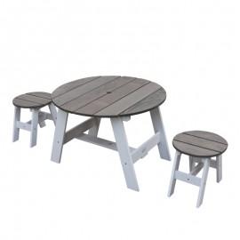 3-delt picnicsæt fra Axi - grå/hvid