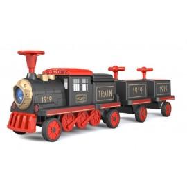 EL Tog med lokomotiv og 2 vogne - op til 4 børn