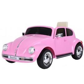 VW Beetle elbil 12v - pink