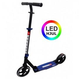 RASK 200 mm Løbehjul m. LED - Blå