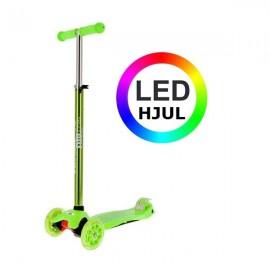 NILS Trehjulet LED Løbehjul 2 -12 år - Grøn