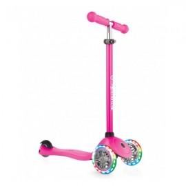 Globber PRIMO 3 LED løbehjul 2-5 år - Pink