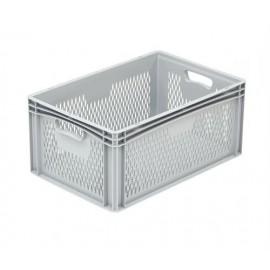 Opbevarings plastkasse - 60 x 40 x 27 cm - Perforeret
