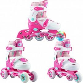 Croxer Missy 3i1 rulleskøjte med hjul lys