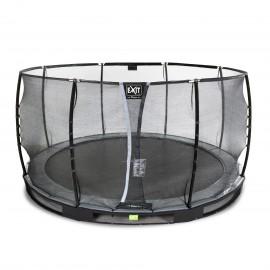 EXIT Elegant Premium nedgravet trampolin ø427cm med Deluxe sikkerhedsnet - sort