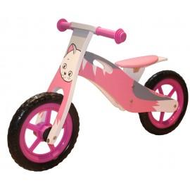 Løbecykel af træ - Kat