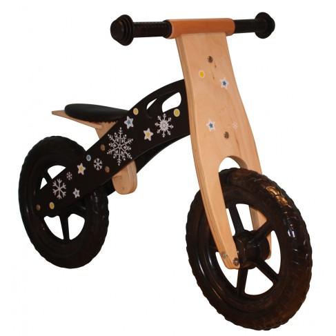 Løbecykel af træ - sort