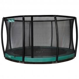 Etan Premium Deluxe nedgravet trampolin med sikkerhedsnet - grøn