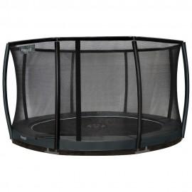 Etan Premium Deluxe nedgravet trampolin med sikkerhedsnet - grå