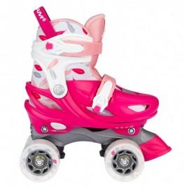 Side-by-side rulleskøjte fra Nijdam - pink