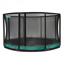 Etan Premium rund nedgravet trampolin med sikkerhedsnet - grøn