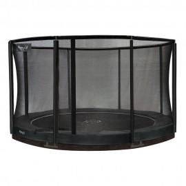 Etan Premium nedgravet trampolin med sikkerhedsnet - grå