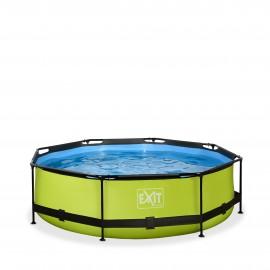EXIT Lime pool Ø300x76cm. med filterpumpe