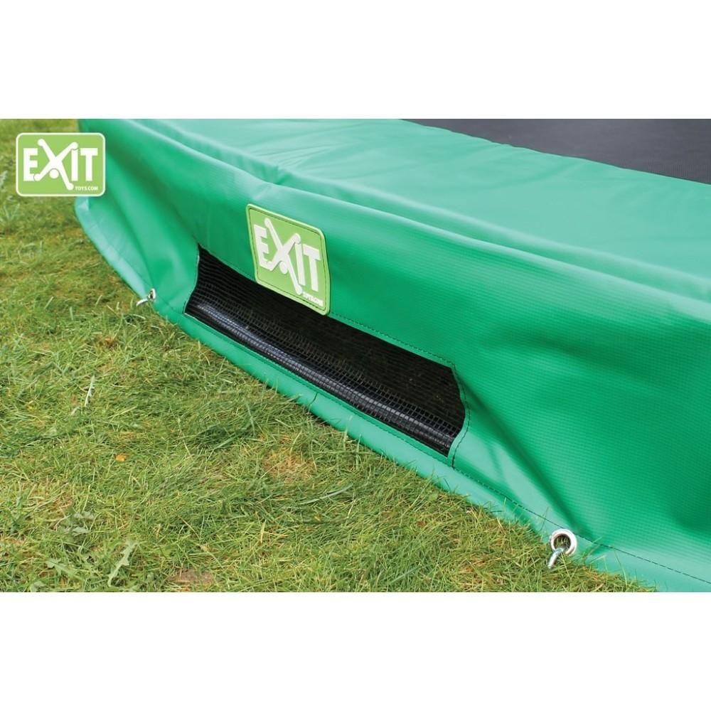Exit InTerra trampolin til nedgravning med sikkerhedsnet