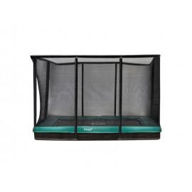 Etan Premium firkantet nedgravet trampolin med sikkerhedsnet - grøn