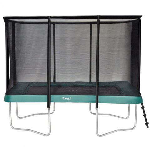 Etan Premium firkantet trampolin med sikkerhedsnet - grøn