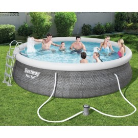 Bestway Fast Set Pool Rattan Sæt 457 x 107 cm