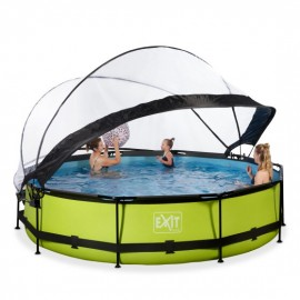 EXIT Lime pool Ø360x76cm. med dome