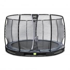 EXIT Elegant Premium nedgravet trampolin ø366cm med Deluxe sikkerhedsnet - sort