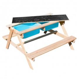 Sunny Dual Top 2.0 bord med turkisblå kasser