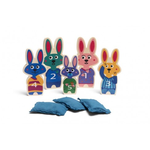 Ærteposespil - Vælt kaninerne