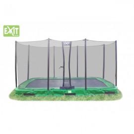 InTerra firkantet trampolin (2,14 x 3,66 m) til nedgravning - Grøn