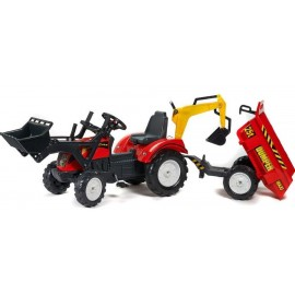 Falk Ranch Traktor m/frontskovl og anhænger