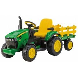 John Deere Ground Force - 12V El-traktor med anhænger