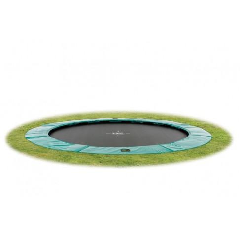EXIT Supreme Ground Level - Grøn - rund trampolin til nedgravning