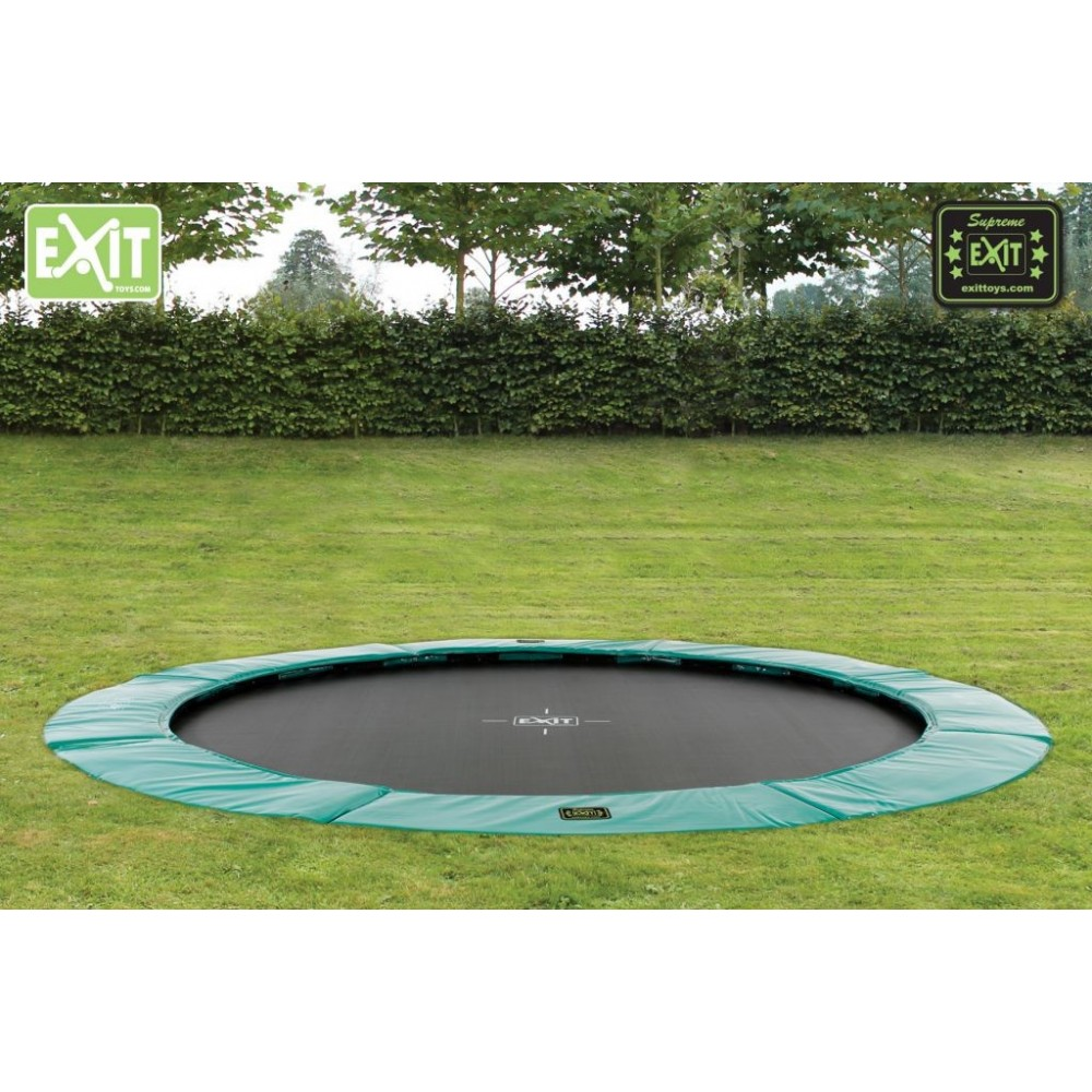 exit supreme ground level trampolin til nedgravning. Black Bedroom Furniture Sets. Home Design Ideas