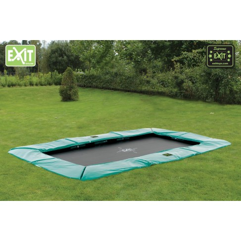 EXIT Supreme Ground Level - firkantet trampolin til nedgravning