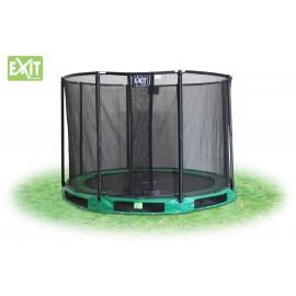 EXIT InTerra Round 4,3 m - grå - trampolin til nedgravning